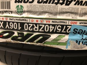 Tire and black rim set for Sale in Roswell, GA