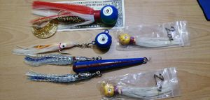 5 pack of BASEBALL BAT JIGS 4 ROCKFISHING lure halibut deep sea weights fishing for Sale in Garden Grove, CA