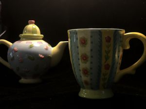 Floral Mug and Tea Pot for Sale in Everett, MA