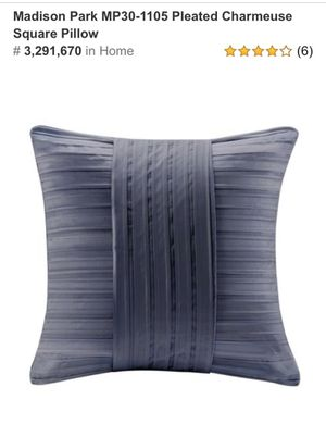 Madison Park Pleated Charmeuse Square Pillow for Sale in Artesia, CA