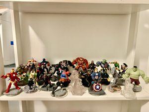Disney infinity marvel super hero's black suit spider man, captain America battlegrounds, hulk buster, black panther, ant man for Sale in Norwalk, CA