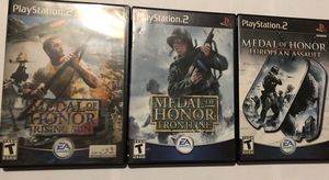 Medal of Honor Rising Sun, Frontline, and European Assault for Sale in Coal Center, PA