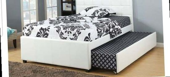CLOSEOUTS LIQUIDATION SALE BRAND NEW TWIN SIZE BED FRAME AVAILABLE IN FULL ADD MATTRESS ALL NEW FURNITURE PDX9216T for Sale in Pomona,  CA