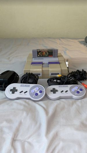 Super Nintendo with Ms Pac-Man game with 2 controllers and all cords needed for Sale in Deer Park, TX