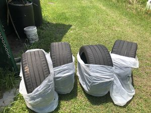 Michelin tires 295 3520 x 2 Also Michelin pilot sport 275 45 20 x 2 Also got a set of rims for a late model Dodge charger or Challenger 245 4520s w for Sale in Orlando, FL