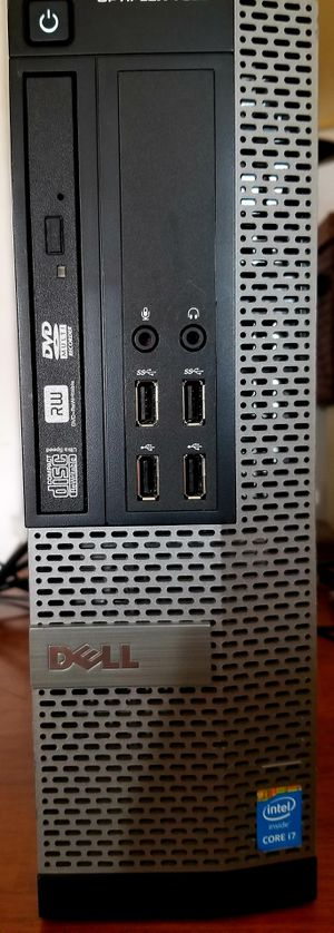 DELL OPTIPLEX 7010 SFF DESKTOP COMPUTER - I7, 256GB SSD, 16GB RAM - PERFECT FOR WORK @ HOME OR STUDENT HOME SCHOOLING & DISTANCE LEARNING for Sale in Fresno, CA