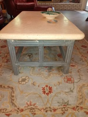 Bamboo leg coffee table with Stone top for Sale in Fort Lauderdale, FL