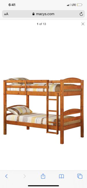 Solid Wood twin over twin bunk bed for sale for Sale in Brooklyn, NY
