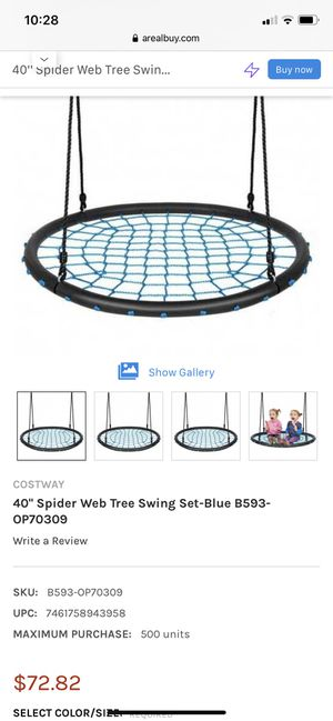 """40"""" Spider Web Tree Swing Set - Blue - NEW IN BOX for Sale in Spring Valley, CA"""
