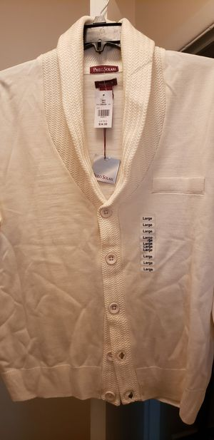 Mens cardigan sweater size large for Sale in Taylor, MI