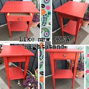 ✨Like New Red IKEA wood nightstand ✨ for Sale in El Monte, CA
