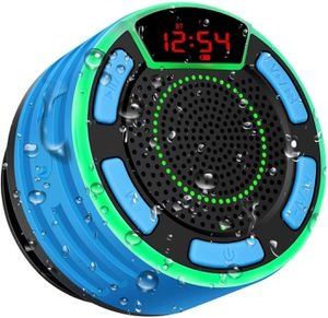 Ipx7 Waterproof Portable Wireless Shower Speaker LED Display, FM Radio, Suction for Sale in Los Angeles, CA