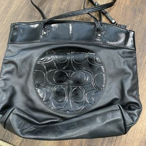 Coach Black Leather Tote Bag for Sale in Tustin, CA
