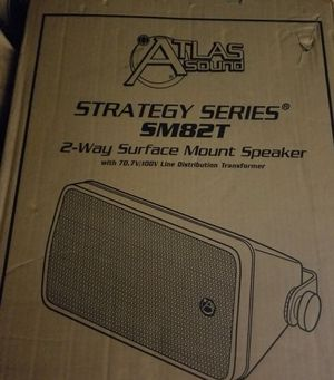 "Atlas Sound 8"" 70v Outdoor Surface Speaker, 2-Way Weather Resistant. Brand New. Over $300 store. for Sale in Richardson, TX"