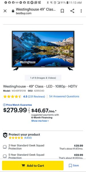 50 inch 4K Roku Tv for Sale in Charlotte, NC