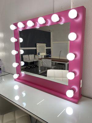 Pink Makeup Vanity Mirror- Dimmable! for Sale in Las Vegas, NV