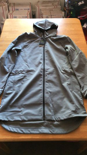 Brand new Nike shield repel Jacket coat parka gray hoodie men's size L-Tall or XXL-Tall for Sale in El Cajon, CA
