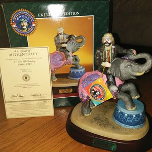 35 years of Clowning Emmett Kelly Jr collectible statue for Sale in Downers Grove, IL