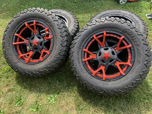 5 Jeep Wrangler rims and tires for Sale in Burlington, NJ