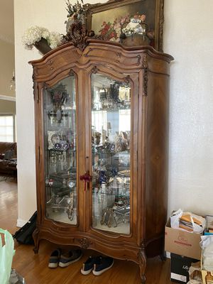 Gorgeous antique hutch in great shape with glass shelves for Sale in Los Angeles, CA