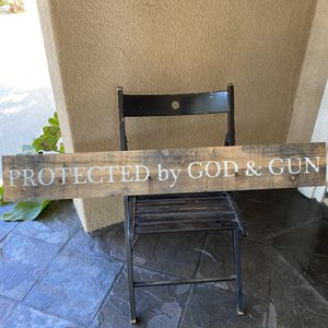 "2nd Amendment sign protected by God rustic wood sign 46.5""x6.5"" for Sale in Costa Mesa, CA"