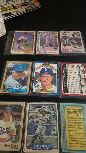Classic baseball cards All Dodger Players for Sale in Grand Terrace, CA