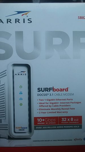 Arris surf docsis 3.1 cable modem for Sale in Fort Worth, TX