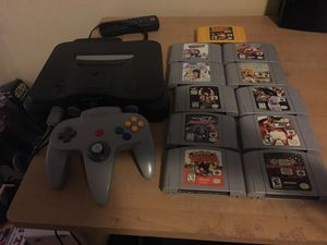 Nintendo 64 w/ 9 games and expansion. works great for Sale in Henderson, NV