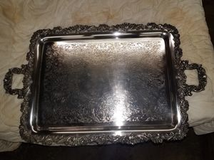 Vintage silver plated serving tray. for Sale in Wetumpka, AL
