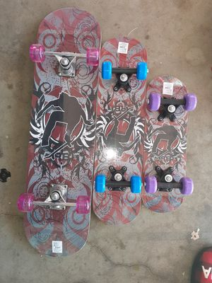 All three skateboards located in Palmdale California $60 for Sale in Palmdale, CA