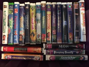 Vintage Disney VHS Tapes for Sale in Houston, TX