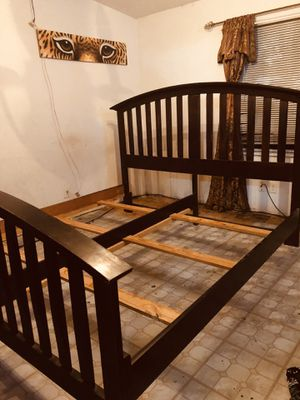 *KING SIZE WOOD BED FRAME* for Sale in Granger, WA