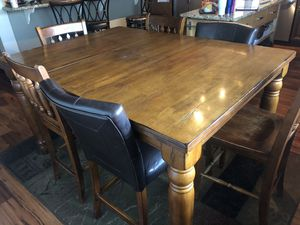 Bar height dining room table with chairs for Sale in Rancho Cucamonga, CA