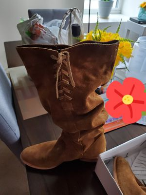 Aldo brown suede cowboy boots for Sale in Lawrence, MA