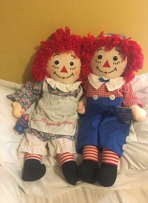 Authentic Raggedy Ann & Raggedy Andy Dolls for Sale in Jonesboro, GA