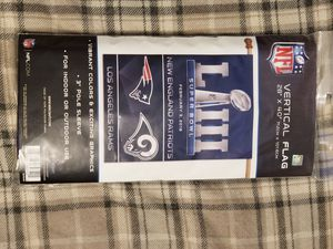 Rams and Patriots super bowl flag $25 for Sale in Glendora, CA