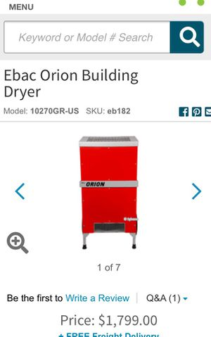 Ebac Orion Building Dryer for Sale in Washington, DC