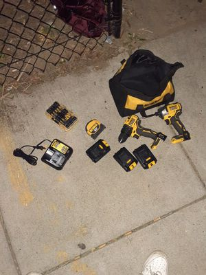 Whole DeWalt Set 2 Drills...Driver Drill & Impact Drill 2 bags 3 batteries 2chargers & bitset for Sale in Washington, DC