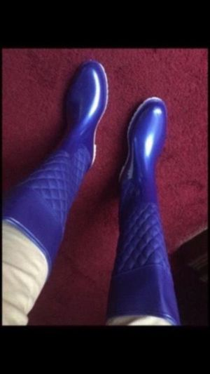 Blue rain boots size 6,7,9,10 for Sale in Cleveland, OH