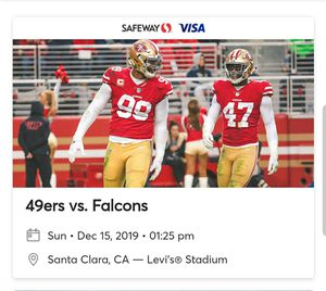 49ers vs. Falcons tickets for Sale in San Jose, CA