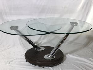 Custom made articulating/rotating glass coffee table for Sale in Everett, WA