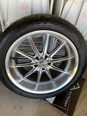 5x5 Chevy c10 20x9 1/2 and 20x8 rims and tires for Sale in Temecula, CA
