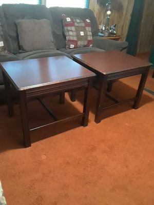 2 End Tables, Solid Wood 40.( 22 x 28 x 22 height ) for Sale in Princeton, TX