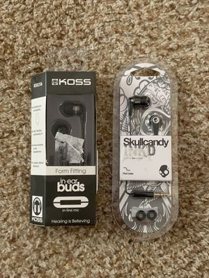 Skull candy and Koss earbuds brand new never opened for Sale in Bradenton, FL