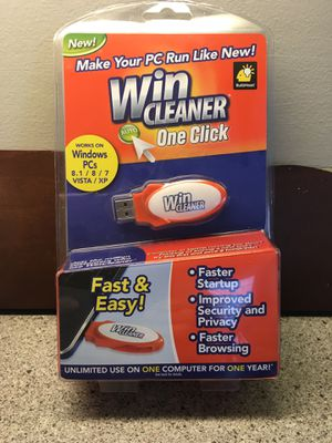 WinCleaner for Windows 8.1/8/7/VISTA/XP.....New in box for Sale in Vernon Hills, IL