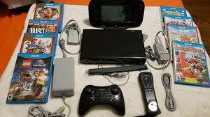 Nintedo Wii U + 8 videogames for Sale in Queens, NY
