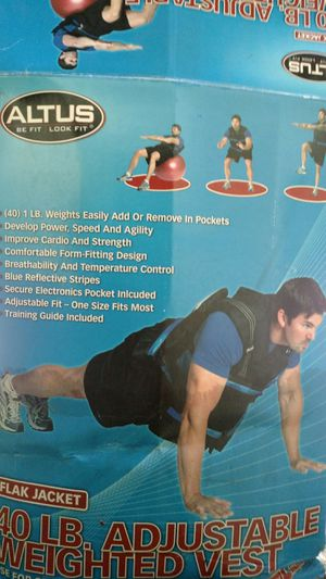 Altus 40 lb Weighted Training Vest for Sale in Oklahoma City, OK