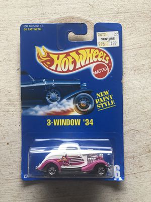 Hot Wheels 3-Window '34 #196 - Purple with spoke wheels #451 for Sale in Houston, TX