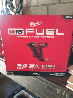 New Milwaukee 15 Gauge Finish Nail Gun for Sale in Garden Grove, CA