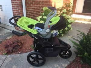 Jogging Stroller/Car Seat combo (Excellent condition-Really Clean!) for Sale in Westfield, IN